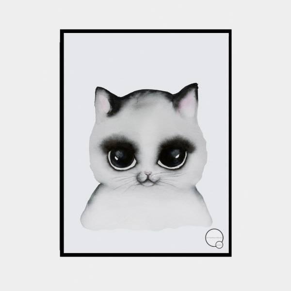 Bilde av Poster Cat 30x40cm