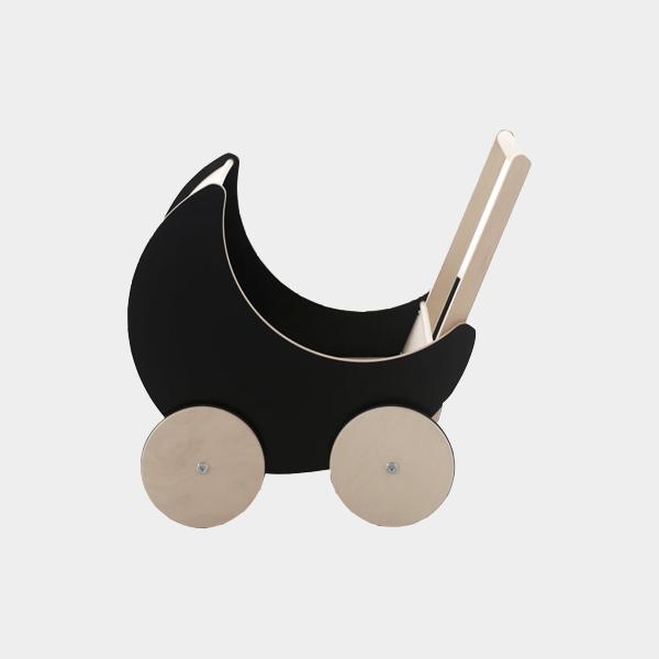 Bilde av Dukkevogn i tre sort
