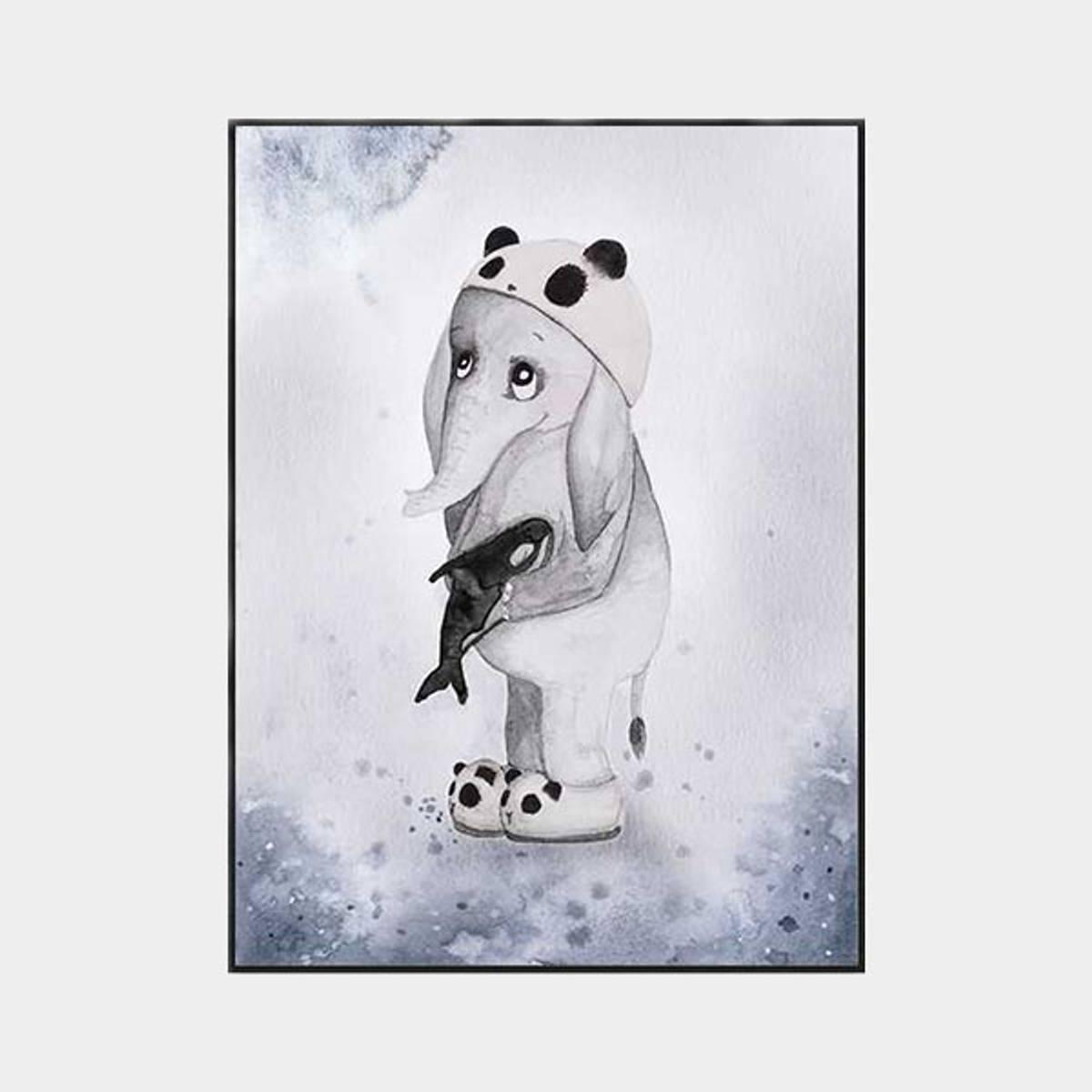 Poster Elefanten Elias 30x40cm